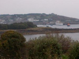 View of St Mary's harbour, Isles of Scilly